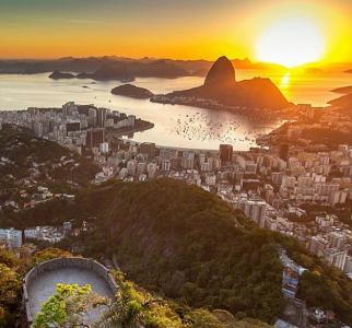 Sunset in Rio de Janeiro. Beautiful!