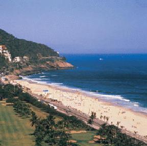 Sao Conrado beach in Rio