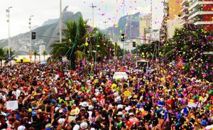Tourists in Rio Carnival