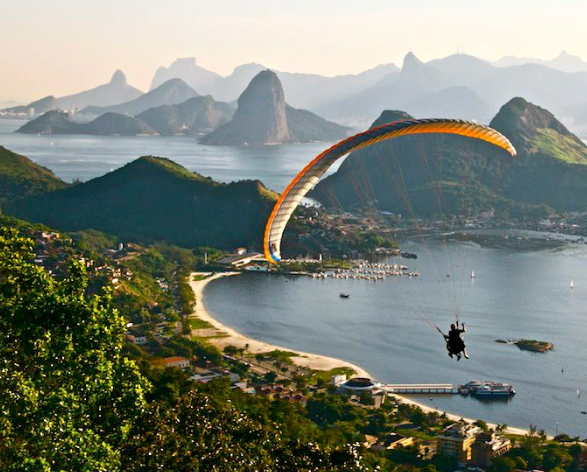 Great views from above. That's Rio!