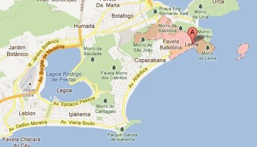 Leme Beach Map