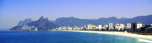 Prais de Ipanema e Leblon no Rio.