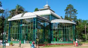 O lindo Palácio de Cristal em Petrópolis.