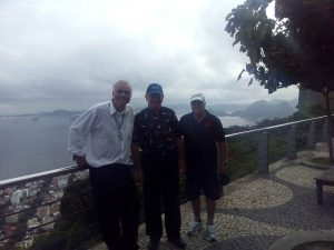 With tourists at the Sugarloaf