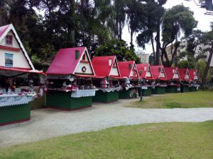 Beautiful tents at the Cristal Palace area in Petropolis