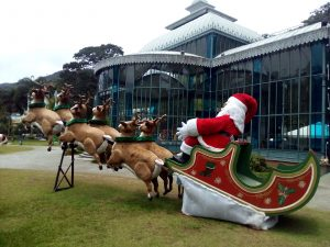Santa at the Cristal Palace in Petropolis