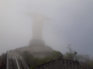 Cloudy day at the Corcovado Mountain